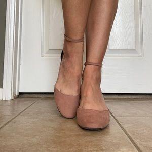 Mauve suede kitten heel (worn once)